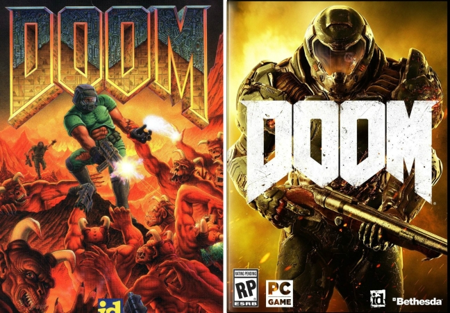 Everything Doom is, summed up in one image (Doom (1993), Left), whereas in 20 years will anyone recall the other? (Doom (2016), Right)